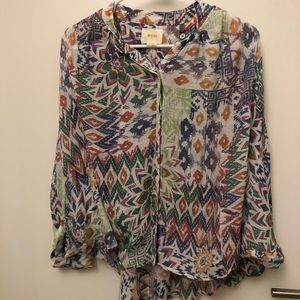 Colorful and fun Anthropologie top!